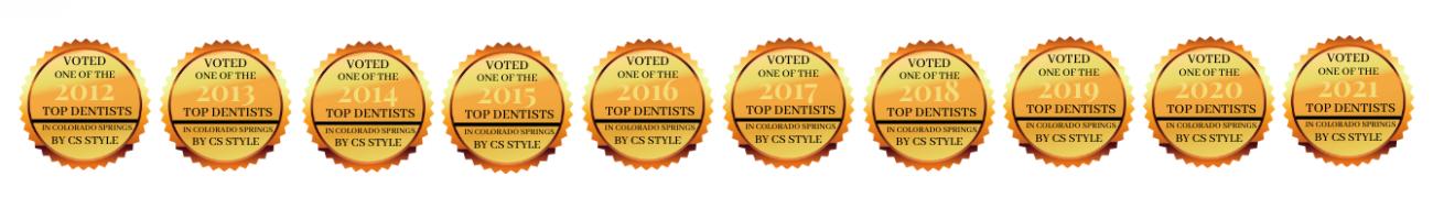 briargate voted top dentist 2012-2021